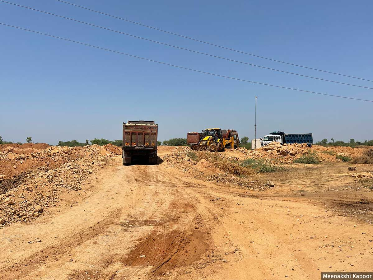 Trucks carrying limestone from the mines ply in the region. In the environment clearance issued to mine, one of the conditions states that the trucks carrying the mineral should not pass through the villages. Residents claim that this condition was violated as recently as in June 2021.