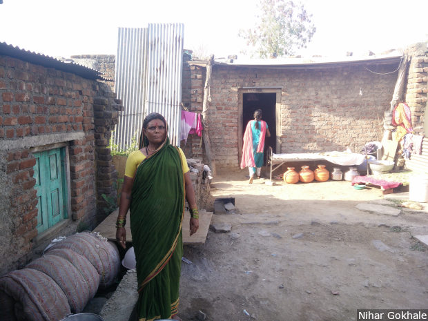 Sunanda Kamble was among the dalit women who, in 1989, occupied the gairan (grazing) land in Gharegaon village in the southeastern Maharashtra district of Osmanabad. Credit: Nihar Gokhale/IndiaSpend