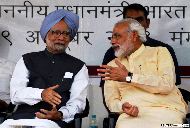 Modi & Manmohan: 1 Year, Spot The Differences | IndiaSpend ...