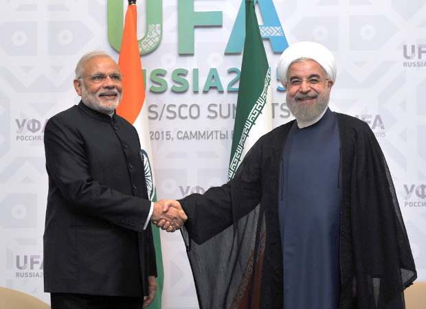 The Prime Minister, Shri Narendra Modi in bilateral meeting with the President of the Islamic Republic of Iran, Mr. Hasan Rouhani, in Ufa, Russia on July 09, 2015.