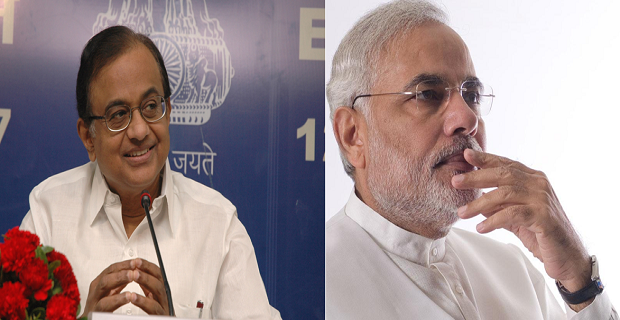 modi and chidambaram gdp war