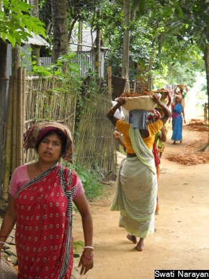Workers at an urban employment guarantee worksite in a slum of Tripura's capital, Agartala. With the tide turning in favour of the state's pilot urban-jobs programme, an argument is being made for its nationwide replication.