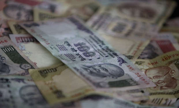 Indian currency of different denominations are seen in this picture illustration taken in Mumbai