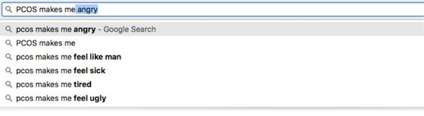 A snapshot of the PCOS/D related searches on Google.