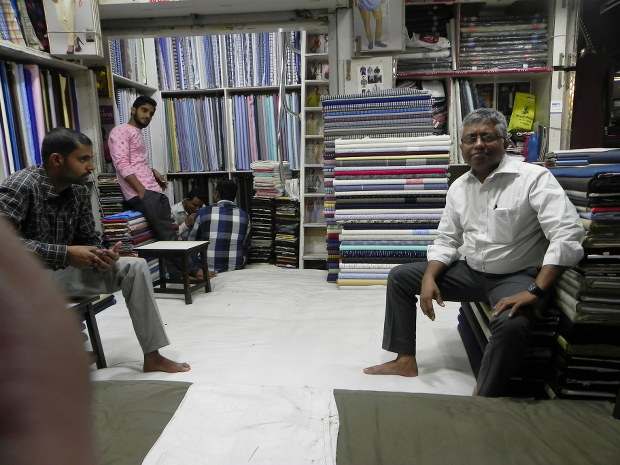 N Chandrakant said customers have stopped buying premium clothing while sales of low-end material have not been affected.