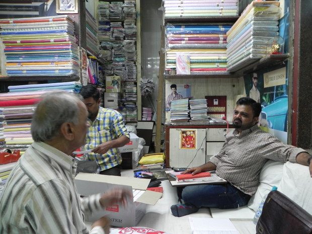 Sudhir Parekh had bought cloth before the November 8 scrapping of high denomination notes, which is still with him, unsold.